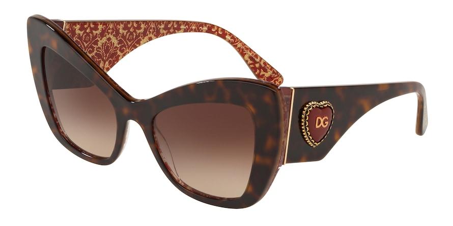 Dolce & Gabbana DG4349 Havana Lentes Brown Gradient