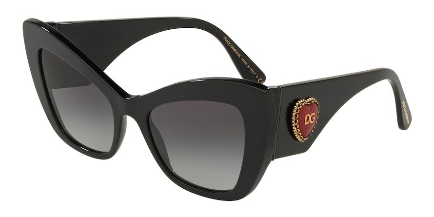 Dolce & Gabbana DG4349 Black Lentes Grey Gradient