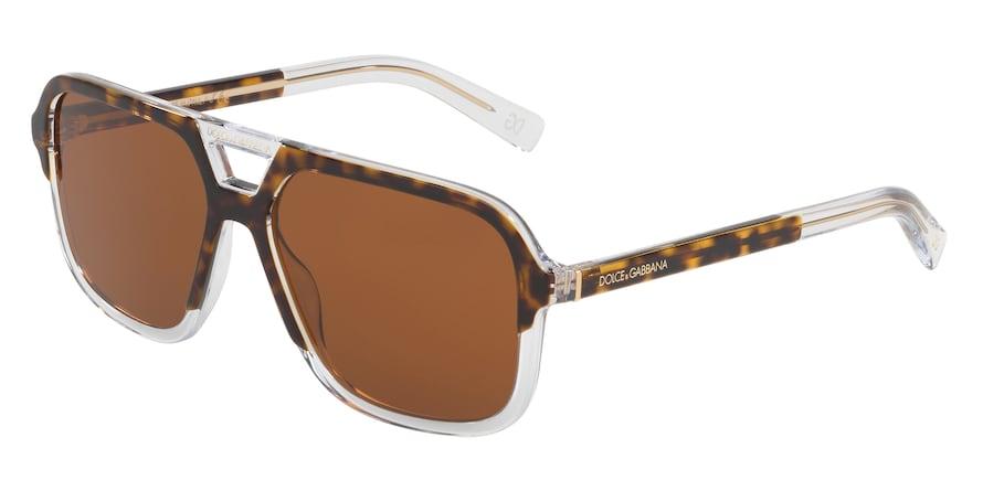 Dolce & Gabbana DG4354 Top Havana On Crystal Lentes Brown