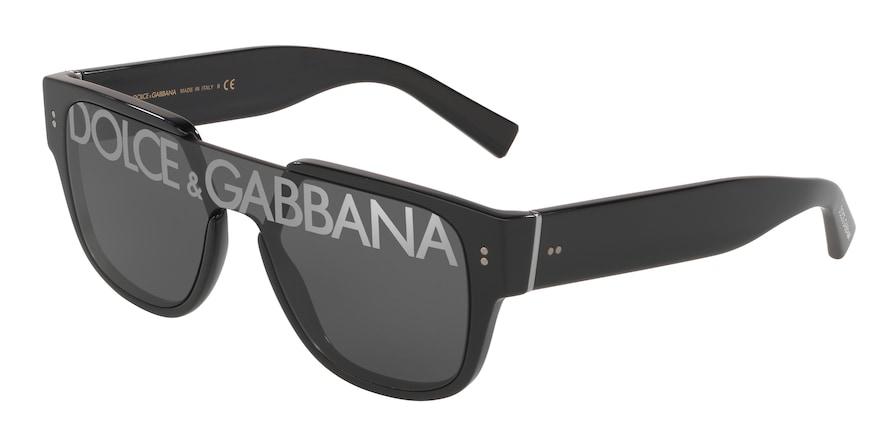 Dolce & Gabbana DG4356 Black Lentes Dark Grey Tampo Deg Silver