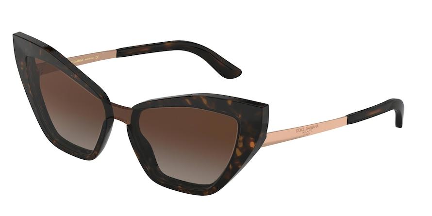Dolce & Gabbana DG4357 Havana Lentes Brown Gradient