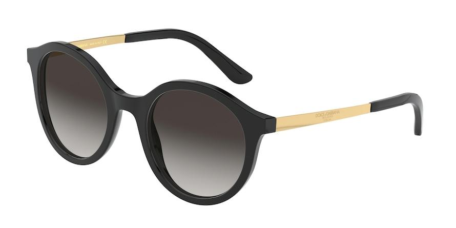 Dolce & Gabbana DG4358 Black Lentes Grey Gradient