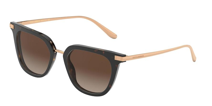 Dolce & Gabbana DG4363 Havana Lentes Brown Gradient