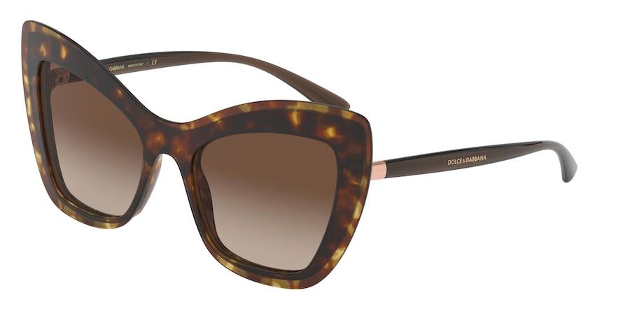 Dolce & Gabbana DG4364 Havana Lentes Brown Gradient