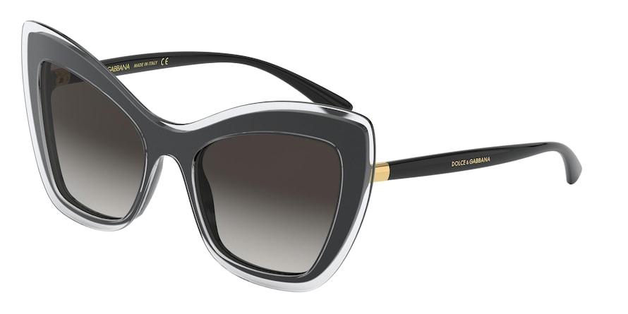 Dolce & Gabbana DG4364 Top Crystal On Black Lentes Grey Gradient