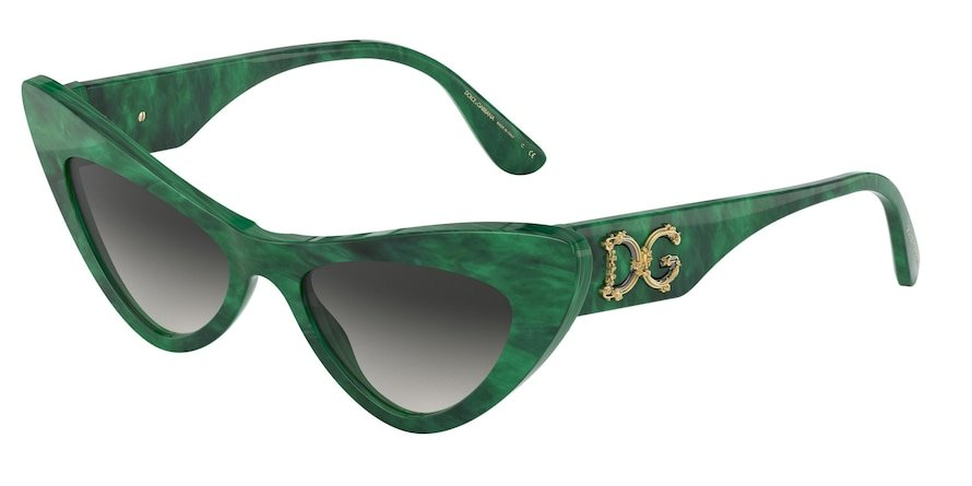 Dolce & Gabbana DG4368 Malachite Green Lentes Grey Gradient