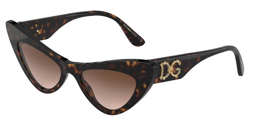 Dolce & Gabbana DG4368 Havana Lentes Brown Gradient