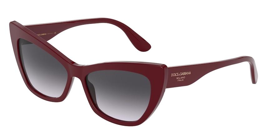 Dolce & Gabbana DG4370 Bordeaux Lentes Grey Gradient