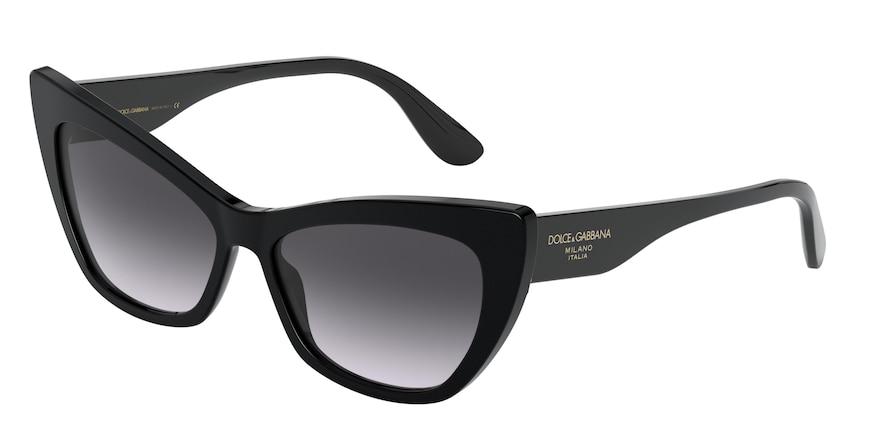 Dolce & Gabbana DG4370 Black Lentes Grey Gradient