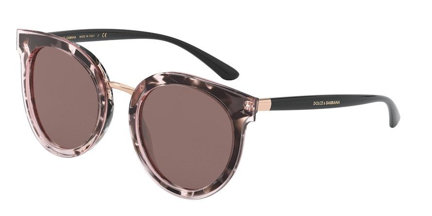 Dolce & Gabbana DG4371 Top Tr Pink/Madreperla Pink Lentes Brown Mirr Silver Int Violet