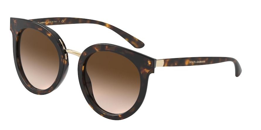 Dolce & Gabbana DG4371 Havana Lentes Brown Gradient
