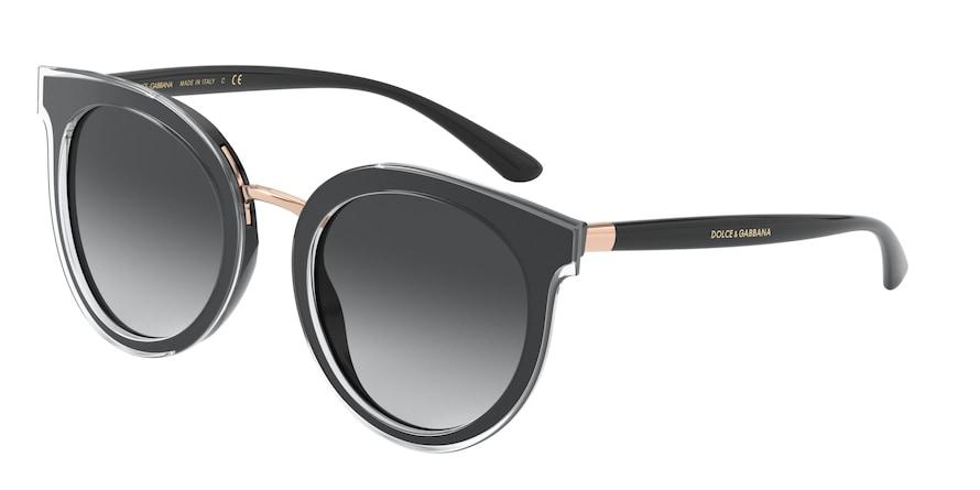 Dolce & Gabbana DG4371 Top Crystal On Black Lentes Grey Gradient