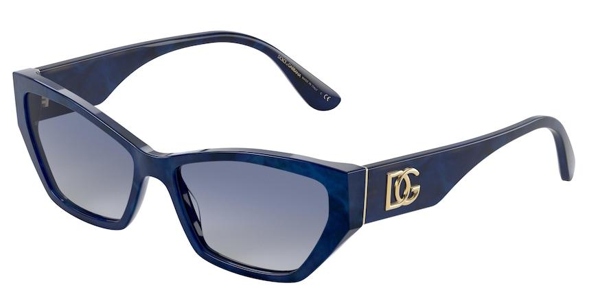 Dolce & Gabbana DG4375 Blue Marble Lentes Grey Gradient Blue