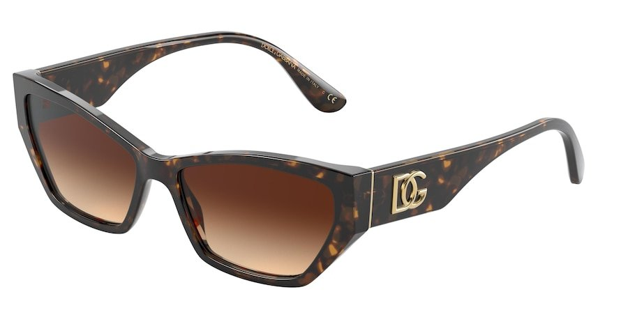 Dolce & Gabbana DG4375 Havana Lentes Brown Gradient
