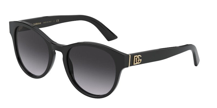 Dolce & Gabbana DG4376 Black Lentes Grey Gradient