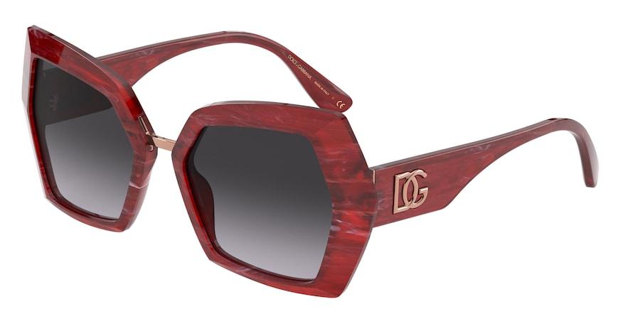 Dolce & Gabbana DG4377 Bordeaux Marble Lentes Grey Gradient