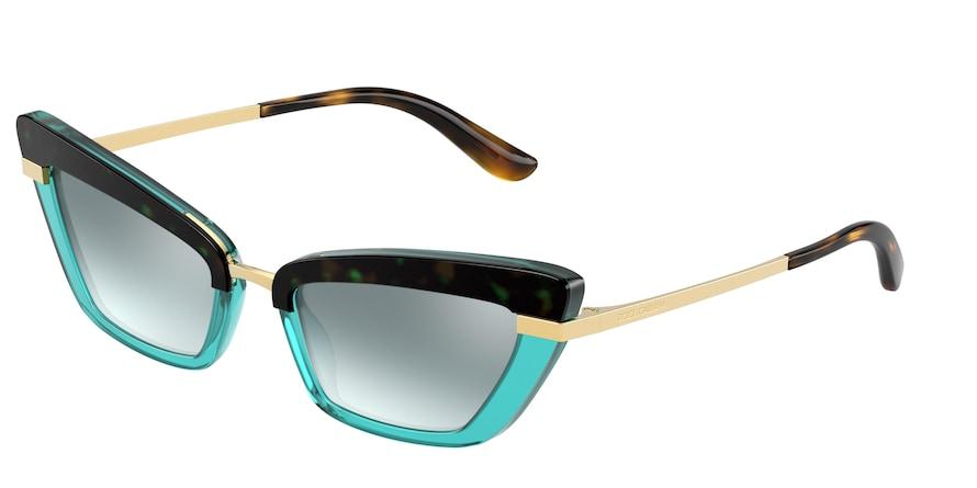 Dolce & Gabbana DG4378 Top Havana On Opal Turquoise Lentes Light Azure Mirror Silver Grad