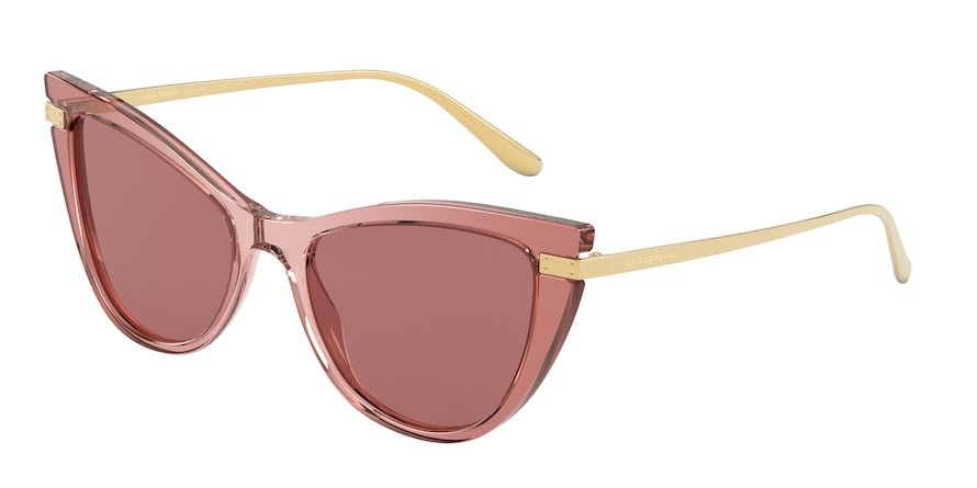 Dolce & Gabbana DG4381 Pink Multilayer Lentes Dark Violet