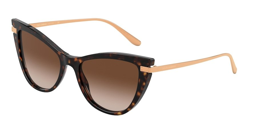 Dolce & Gabbana DG4381 Havana Lentes Brown Gradient