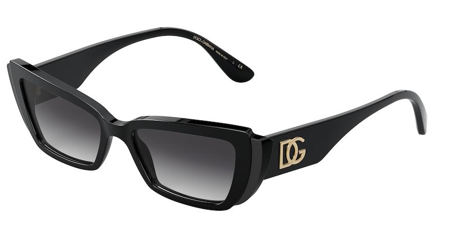 Dolce & Gabbana DG4382 Black/Matte Black Lentes Grey Gradient