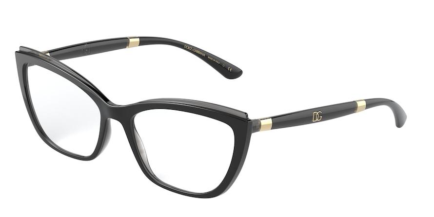 Dolce & Gabbana DG5054 Black On Transparent Grey