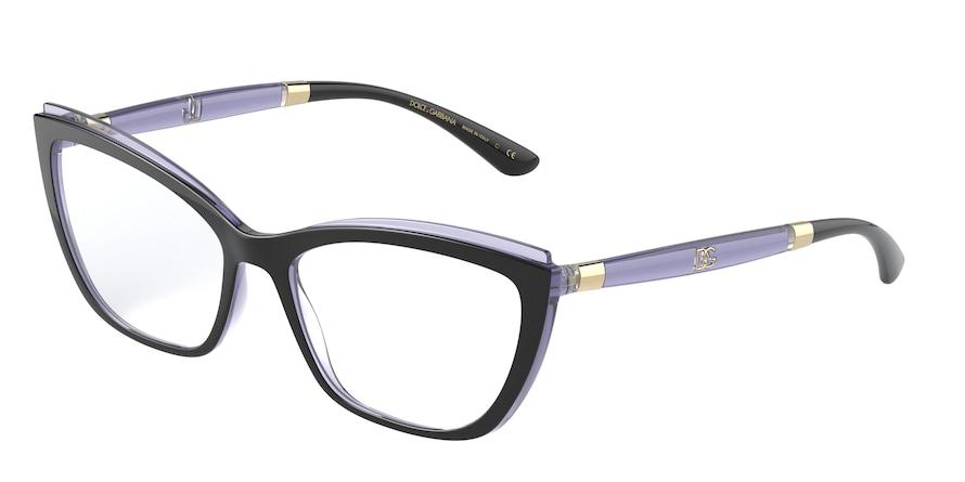 Dolce & Gabbana DG5054 Black On Transp Dark Violet