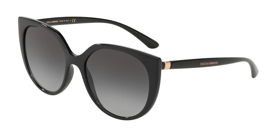 Dolce & Gabbana DG6119 Black Lentes Grey Gradient