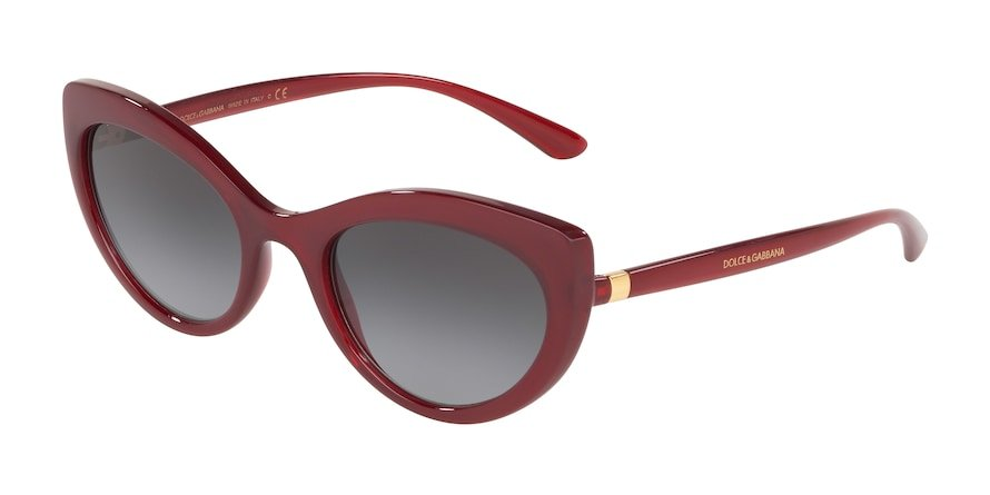 Dolce & Gabbana DG6124 Transparent Bordeaux Lentes Grey Gradient