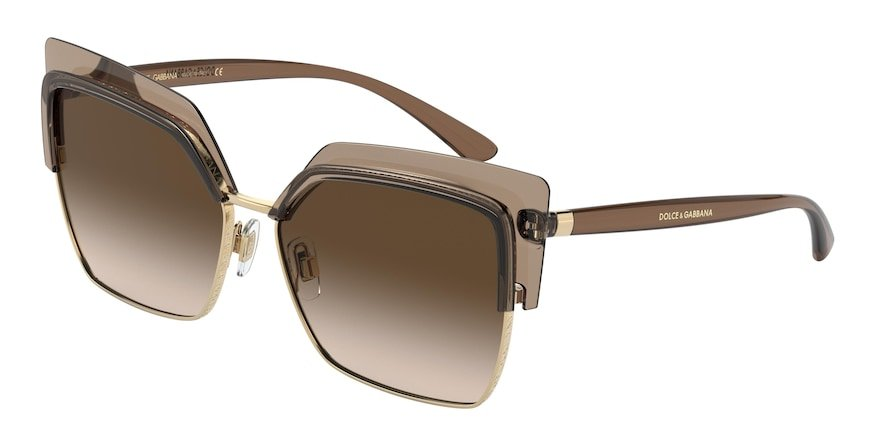 Dolce & Gabbana DG6126 Transparent Brown Lentes Brown Gradient