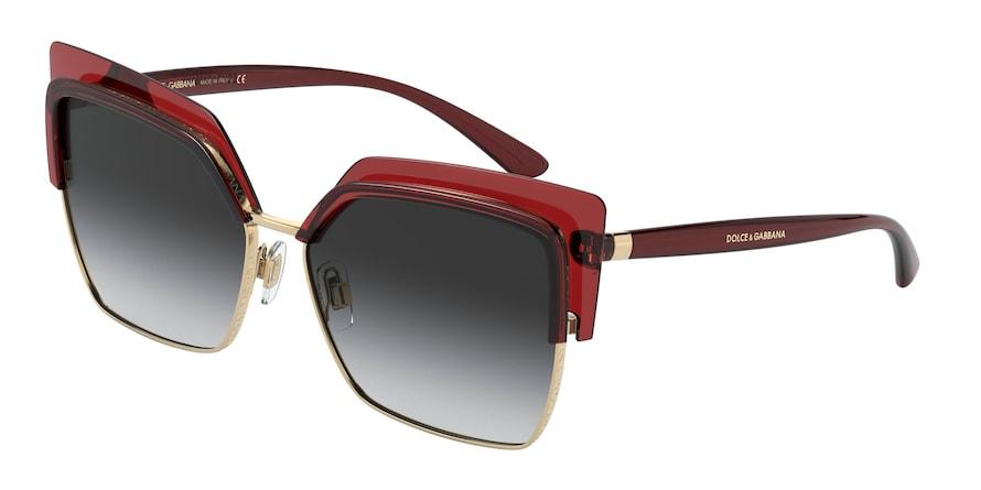 Dolce & Gabbana DG6126 Transparent Red Lentes Grey Gradient