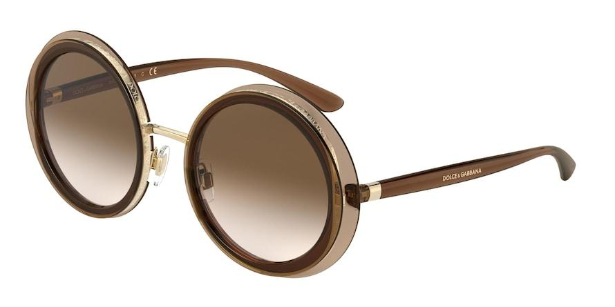 Dolce & Gabbana DG6127 Transparent Brown Lentes Brown Gradient