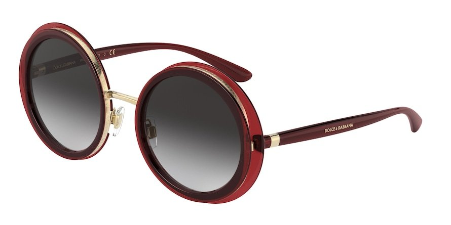 Dolce & Gabbana DG6127 Transparent Red Lentes Grey Gradient