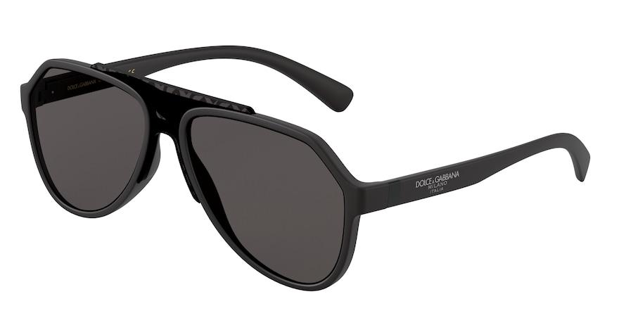 Dolce & Gabbana DG6128 Matte Black Lentes Grey