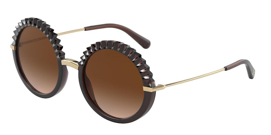 Dolce & Gabbana DG6130 Transparent Brown Lentes Brown Gradient