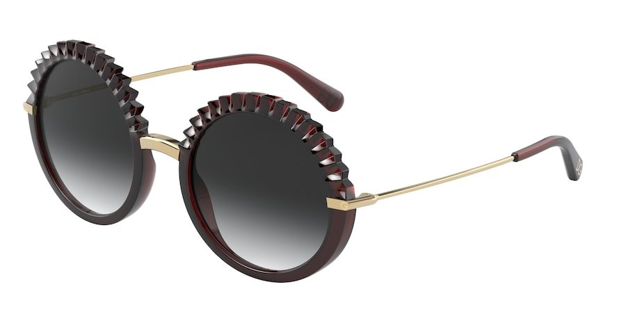 Dolce & Gabbana DG6130 Transparent Red Lentes Grey Gradient