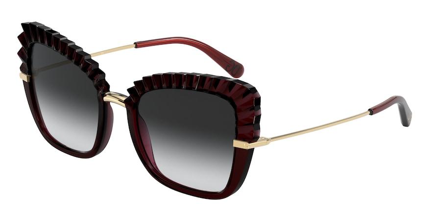 Dolce & Gabbana DG6131 Red Transparent Lentes Grey Gradient
