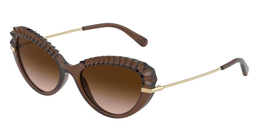 Dolce & Gabbana DG6133 Transparent Brown Lentes Brown Gradient