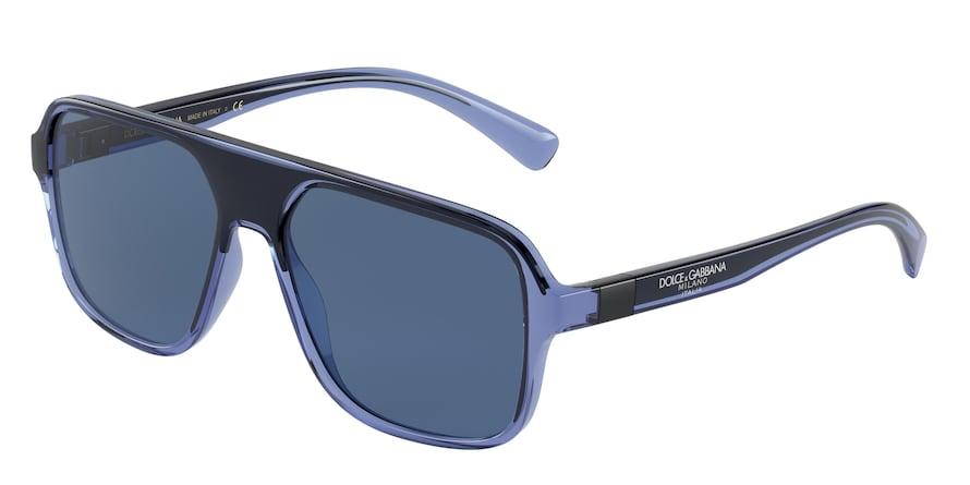 Dolce & Gabbana DG6134 Transparent Blue/Black Lentes Dark Blue