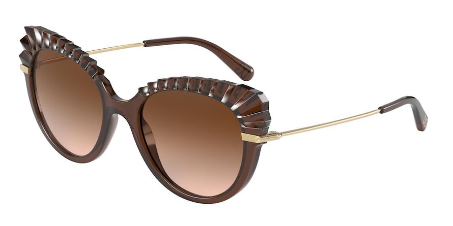 Dolce & Gabbana DG6135 Brown Transparent Lentes Brown Gradient