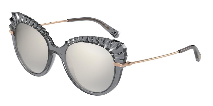 Dolce & Gabbana DG6135 Transparent Grey Lentes Light Grey Mirror Silver Grad