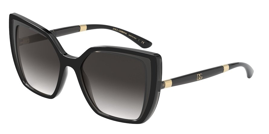 Dolce & Gabbana DG6138 Black On Transparent Grey Lentes Grey Gradient