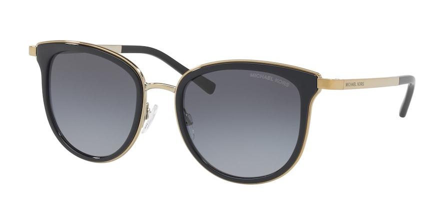 Michael Kors MK1010 ADRIANNA I Black/Gold-Tone Lentes Grey Polarized Gradient
