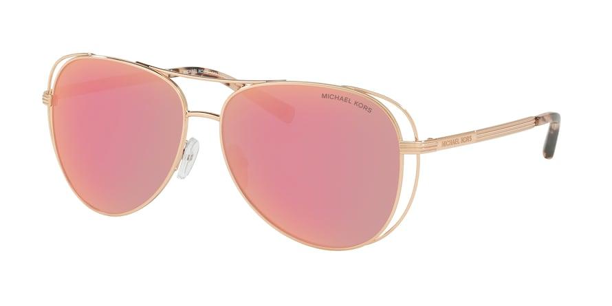 Michael Kors MK1024 LAI Shiny Rose Gold - Tone Lentes Rose Gold Mirror Polar