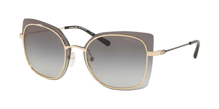 Michael Kors MK1040 PHUKET Shiny Pale Gold Lentes Light Grey Gradient