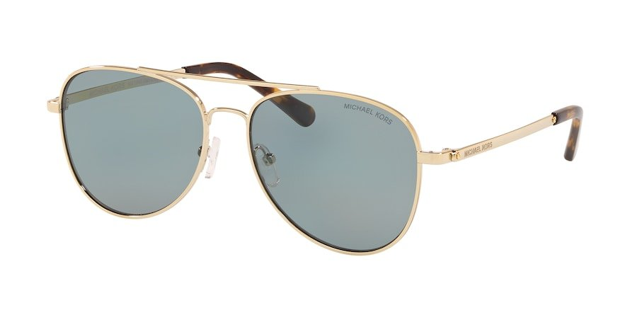 Michael Kors MK1045 SAN DIEGO Light Gold Lentes New Grey Blue Solid Polar