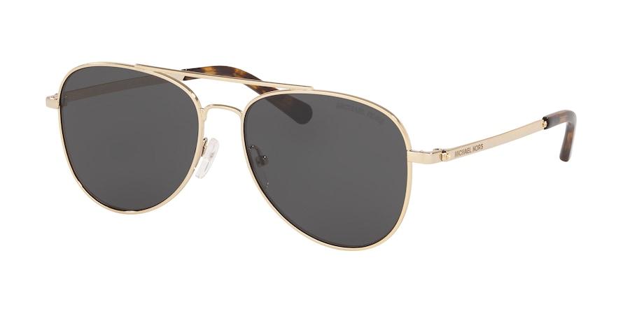 Michael Kors MK1045 SAN DIEGO Shiny Gold Lentes Dark Grey Solid
