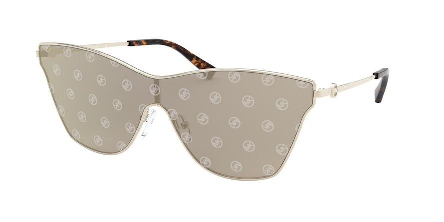 Michael Kors MK1063 LARISSA Light Gold Lentes Gold/Silver Circle Charm Mirro