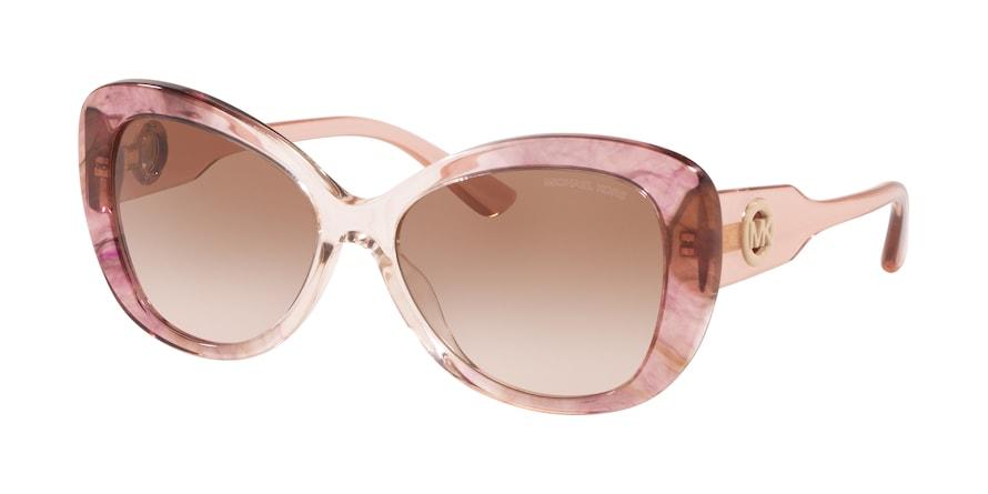 Michael Kors MK2120 POSITANO Pink Tie Dye Lentes Brown Pink Gradient
