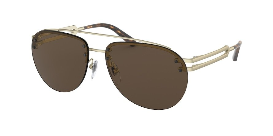 Bvlgari BV5052 Matte Pale Gold Lentes Dark Brown