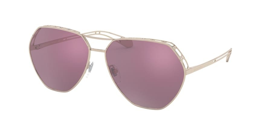 Bvlgari BV6098 Pink Gold Lentes Violet Internal Mirror Silver